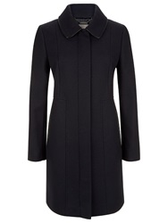 Planet Collar Coat Navy
