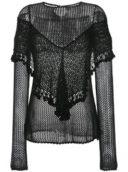 Kitx Woven Long Sleeve Top Black