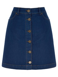 Oasis Buttoned Mini Skirt Denim