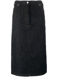 Dries Van Noten Silvan Mid Length Skirt Blue