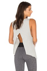 Blue Life Open Back Tank Grey