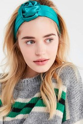 Urban Outfitters Satin Rosette Headwrap Teal