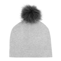 Reiss Flo Cashmere Blend Hat Dove Grey Melange