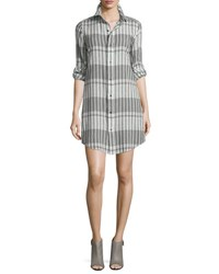 Current Elliott The Prep School Striped Shirtdress Black Scarf Strip