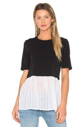 Bcbgeneration Colorblock Top Black