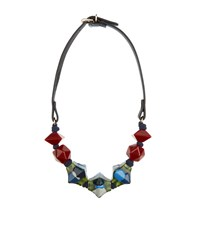 Max Mara Weekend Viglio Leather Necklace Female Multi