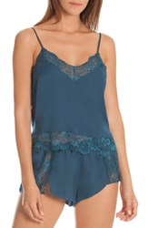 In Bloom By Jonquil Cami Short Pajamas Dark Teal