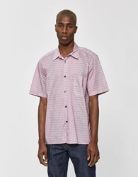 Tres Bien Tourist Button Up Shirt In Agassi Stripe Pink