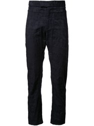 Assin Jacquard Tailored Trousers Black
