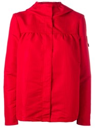 Moncler Gamme Rouge Hooded Rain Jacket Red