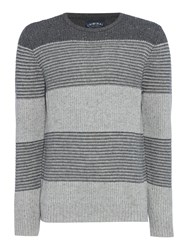 Criminal Men's Leo Stripe Jumper Multi Coloured Multi Coloured