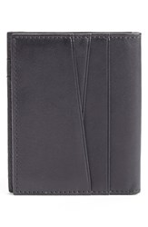 Men's Bosca Front Pocket Leather Wallet With Magnetic Clip Black