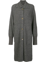 Theory 'Kenchy' Sweater Coat Grey
