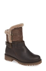 Bos. And Co. Cluster Faux Shearling Waterproof Boot Dark Brown Brown Rusty