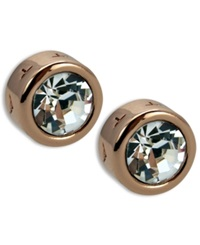 T Tahari Earrings Rose Gold Tone Signature Stud Earrings