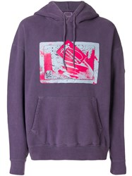 Cav Empt Graphic Print Hoodie Pink And Purple