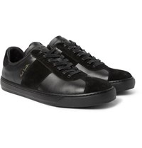 Paul Smith Levon Leather And Suede Sneakers Black