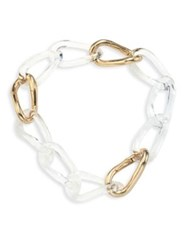 Alexis Bittar Lucite Convertible Infinity Link Necklace And Bracelet Gold