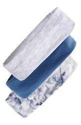Berry Stretchy Head Wraps Blue 3 Pack