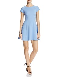 Aqua Textured Fit And Flare Dress 100 Exclusive Blue