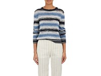Brock Collection Women's Marled Striped Cashmere Blend Sweater Navy