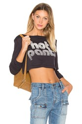 Clayton Hot Pant Long Sleeve Cropped Tee Charcoal