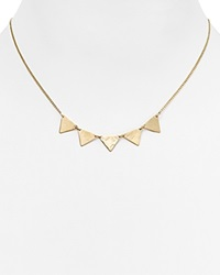 Phyllis Rosie Mini Spike Necklace 16 Gold