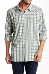 Lucky Brand California Fit Plaid Shirt Gray
