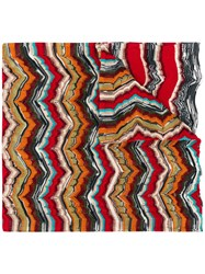 Missoni Knitted Scarf Red