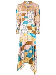 Peter Pilotto Geometric Print Maxi Dress Pink