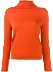 Luisa Cerano Roll Neck Sweater Orange
