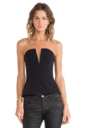 Nicholas Tech Stretch V Neck Bustier Black