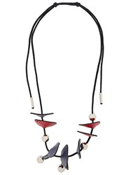 Marni Panel Bead Necklace Pink And Purple