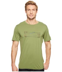 Smartwool Merino 150 Paddles And Oars Tee Light Loden Men's T Shirt Olive
