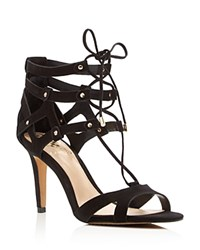 Vince Camuto Claran Lace Up High Heel Sandals Black
