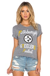 Junk Food Steelers Touchdown Tee Gray