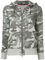 Loveless Camouflage Print Hoodie Cotton Polyester Grey
