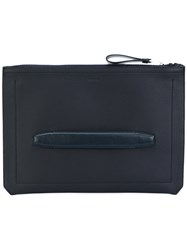 Tom Ford Large Handle Clutch Men Leather One Size Blue