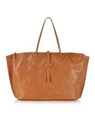 The Bridge Mahe Cognac Leather Large Tote