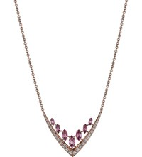 Shaun Leane Aerial 18Ct Rose Gold And Diamond Necklace
