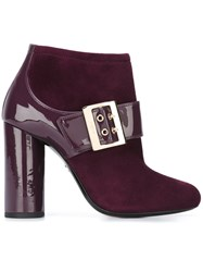 Lanvin Mary Jane Buckle Pumps Pink And Purple