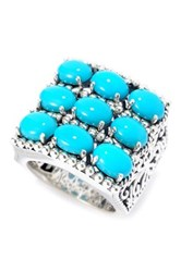 Samuel B Jewelry Sterling Silver Balinese Design Sleeping Beauty Turquoise Ring Blue