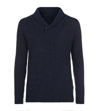 Barbour Rogen Shawl Collar Jumper Male Navy