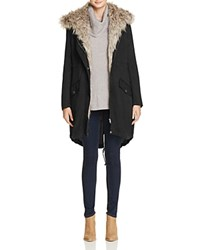Cupcakes And Cashmere Augusta Anorak With Faux Fur Lining Black