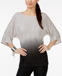 Ny Collection Ombre Dolman Sleeve Textured Sweater