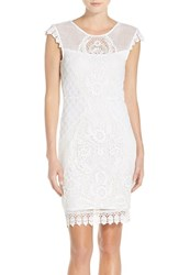 Women's Yoana Baraschi 'Bird Of Paradise' Embroidered Lace Sheath Dress