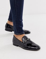 Hudson H By Bolton Bar Loafers In Black Leather