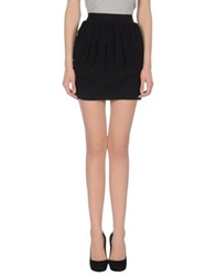 Ring Mini Skirts Black