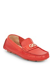 Cole Haan Shelby Leather Loafers Fiery Red