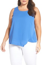 Nic Zoe Plus Size Women's Promenade Asymmetrical Double Layer Tank